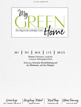 My GREEN Home  - Ausgabe 1/2019