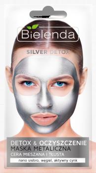 BIELENDA SILVER DETOX Очищающая металлическая маска для нормальной, смешанной и жирной кожи 8г