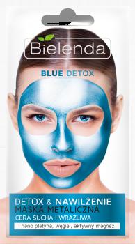 BIELENDA BLUE DETOX Очищающая металлическая маска для сухой и чувствительной кожи 8г