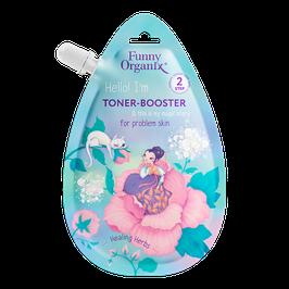 "Funny Organix  Тонер-бустер для лица для проблемной кожи Healing Herbs  20 мл               """