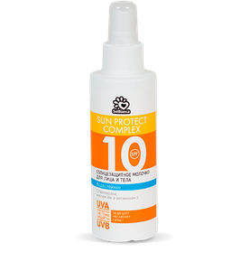 Солнцезащитное, водостойкое молочко «SOLBIANCA 10 SPF»для лица и тела 150мл