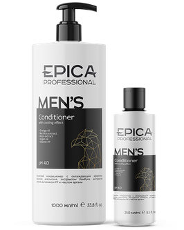 Мужской кондиционер EPICA  FOR MEN с охлаждающим эффектом, 1000 и 250 мл
