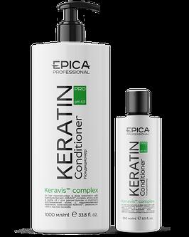 Кондиционер EPICA KERAVIS для реконструкции и глубокого восстановления волос с гидролизованным кератином,  аминокислотами и маслом жожоба 1000 и 250 мл