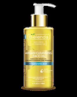 BIELENDA ARGAN CLEANSING FACE OIL для очистки и умывания лица с гиалуроновой кислотой 140мл