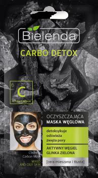 BIELENDA CARBO DETOX Маска очищающая с активированным углем для комбинированной кожи 8г