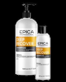 Шампунь EPICA  DEEP RECOVER для поврежденных волос 1000 и 300 мл