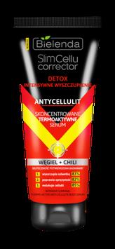 SLIM CELLU CORRECTOR Термоактивная сыворотка для похудения, Уголь + Чили, Антицеллюлит, 250 мл
