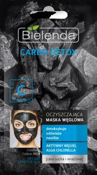 BIELENDA CARBO DETOX Маска очищающая с активированным углем для сухой и чувствительной кожи 8г