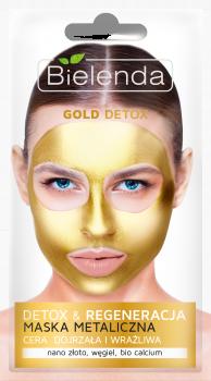BIELENDA GOLD DETOX Очищающая металлическая маска для зрелой и чувствительной кожи 8г