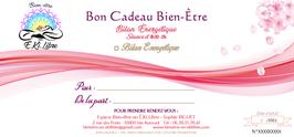 """Bon Cadeau   """"Bilan Énergétique"""""""