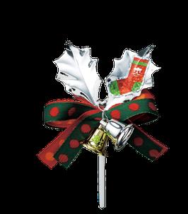 Silver leaf Ornament sock
