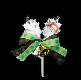 SIlver Leaf Ornament santa 2