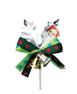 Silver leaf Ornament santa 1