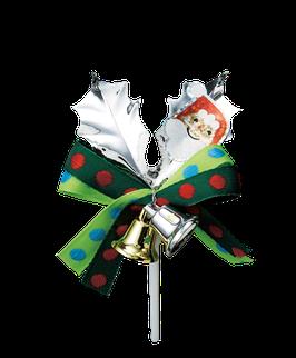 Silver leaf Ornament santa 1
