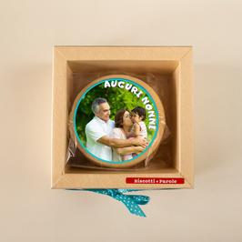 Box 6 biscotti con FOTO- FESTA DEI NONNI