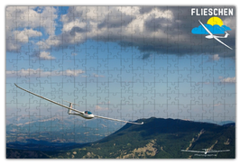 Fotopuzzle mit Segelflugzeug - 266Teile