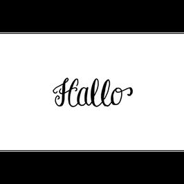 """STEMPEL - """"HALLO"""" - 20 X 55 MM *SALE*"""