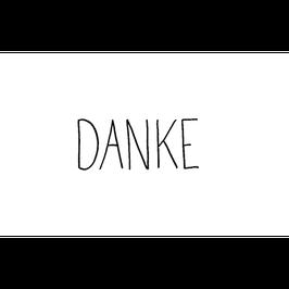 "STEMPEL - ""DANKE"" - GROSSBUCHSTABEN - 25 X 55 MM *SALE*"