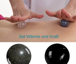 Massagekugeln - Set  Wärme und Kraft