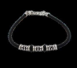 AB437 Armband Kautschuk mit Silber