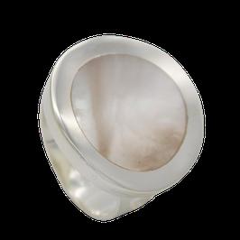 R839 Silberring mit Perlmutt