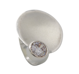 R93 Silberring mit Zirkonia