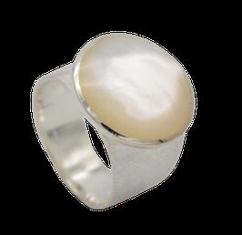 R949 Silberring mit Mondstein