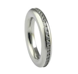 RH369 Edelstahl Ring mit Zirkonia