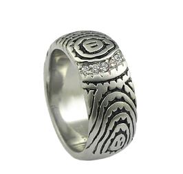 RH383 Edelstahl Ring mit Zirkonia