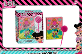 3X SET CARNET JOURNAL SECRET + STYLO POMPON LOL SURPRISE  à € 8.90