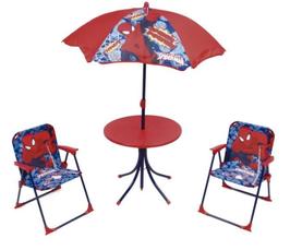 4X SET Pièces Camping Parasol / 2 Chaises / 1 Table Ronde SPIDERMAN à € 33.90
