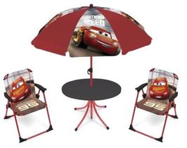 4X SET Pièces Camping Parasol / 2 Chaises / 1 Table Ronde CARS à € 33.90