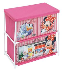 3X Étagère de rangement - Meubles Disney Minnie Mouse avec 3 bacs en tissu  € 16.00