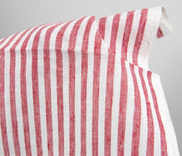 Linen Tea Towel - Stripes Red