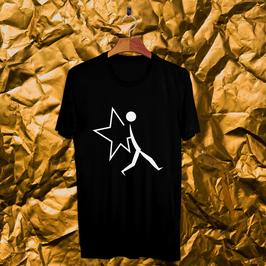 Tee shirt noir NightScapades (grand) noir et blanc