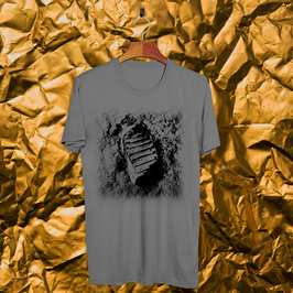 Tee shirt gris Apollo 11 - Pas