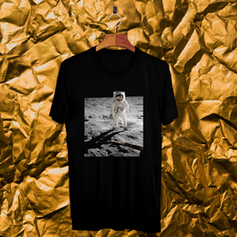 Tee shirt noir Apollo 11 - Buzz