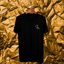 Tee shirt noir NightScapades jaune