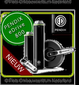 Pendix eDrive800: Direct-Drive MIDDENMOTOR met 1 x 300Watt-uur bidon accu + 1 x 500 Watt-uur bidon accu