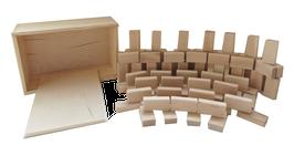 Baukid 80 Minis mit Holzkiste