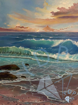 playing waves