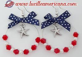 Boucles d'oreilles Créoles Sea Star