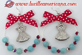 Boucles d'oreilles Créoles Pretty Dress