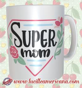 Mug Super Mom retro
