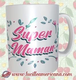 Mug Super Maman Flowers
