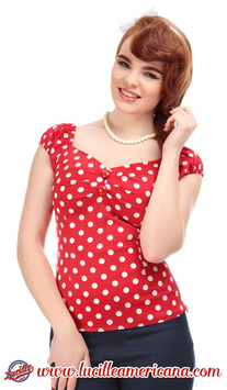 Top Collectif Polka Dots Rouge