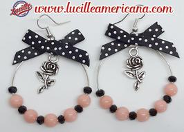 Boucles d'oreilles Créoles Roses