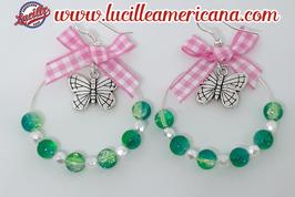 Boucles d'oreilles Créoles Papillon
