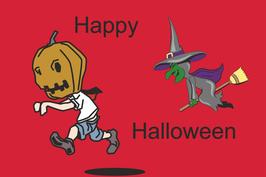 Hißfahne Halloween rot