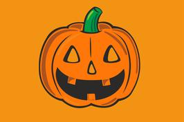 Hißfahne Halloween Kürbis